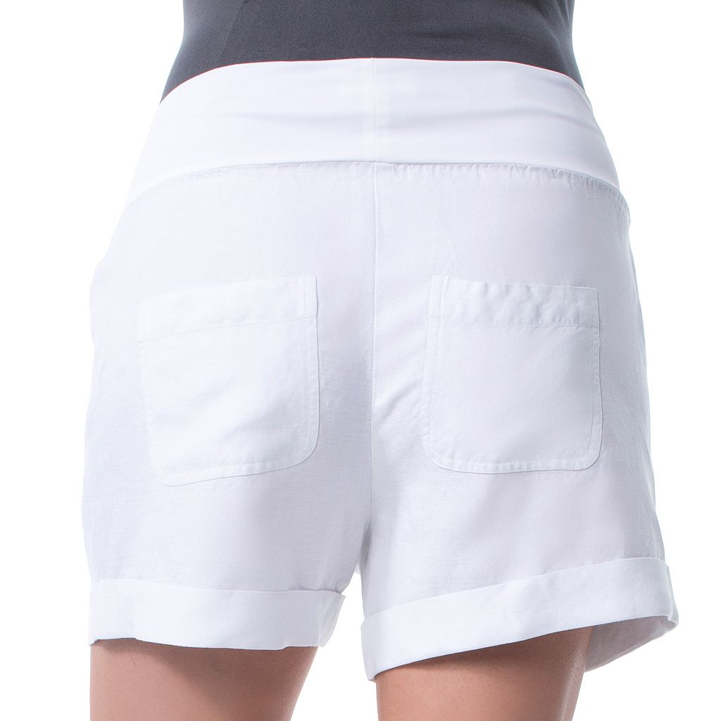 Maternity Pip & Vine by Rosie Pope Belly Panel Linen Blend Shorts