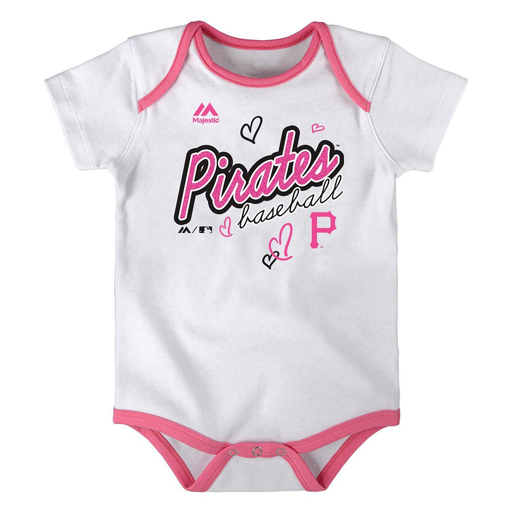 Baby Majestic Pittsburgh Pirates 3-Pack Bodysuits