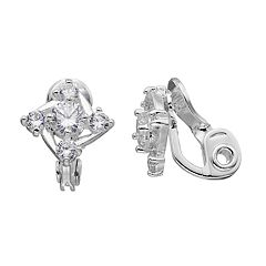 Napier Cubic Zirconia Clip On Earrings
