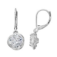 Napier Cubic Zirconia Love Knot Drop Earrings