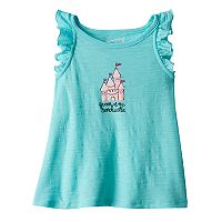 Baby Girl Jumping Beans® Glitter Graphic Slubbed Tank Top