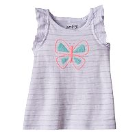 Baby Girl Jumping Beans® Puff Graphic Slubbed Tank Top