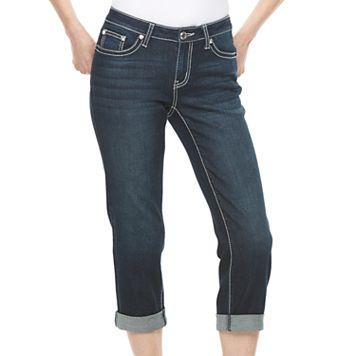 Women's Apt. 9® Contrast Embellished Capri Jeans