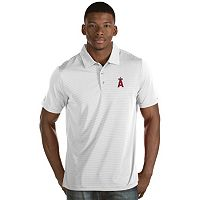Men's Antigua Los Angeles Angels of Anaheim Quest Polo