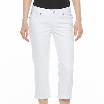 Women's Apt. 9® White Embellished Capri Jeans