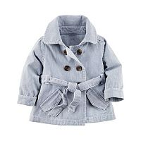 Baby Girl Carter's Hickory Stripe Jacket