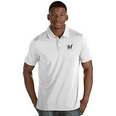 Men's Antigua Milwaukee Brewers Quest Polo