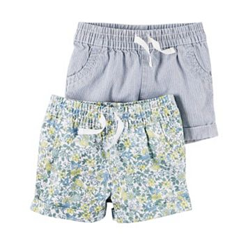 Baby Girl Carter's 2-pk. Striped & Floral Shorts
