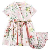 Baby Girl Carter's Floral Henley Dress