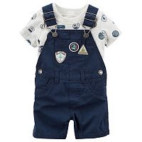 Baby Boy Carter's Road Trip Tee & Shortalls Set
