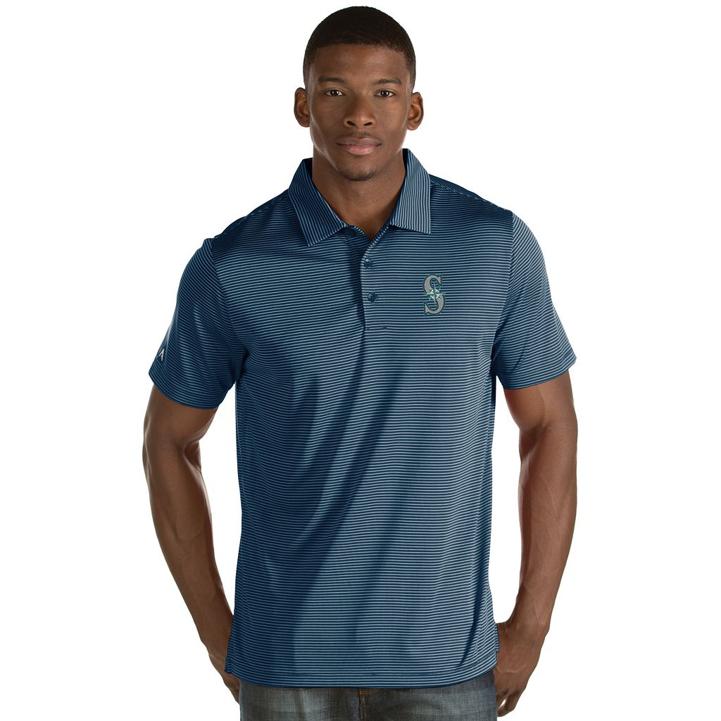 Men's Antigua Seattle Mariners Quest Polo