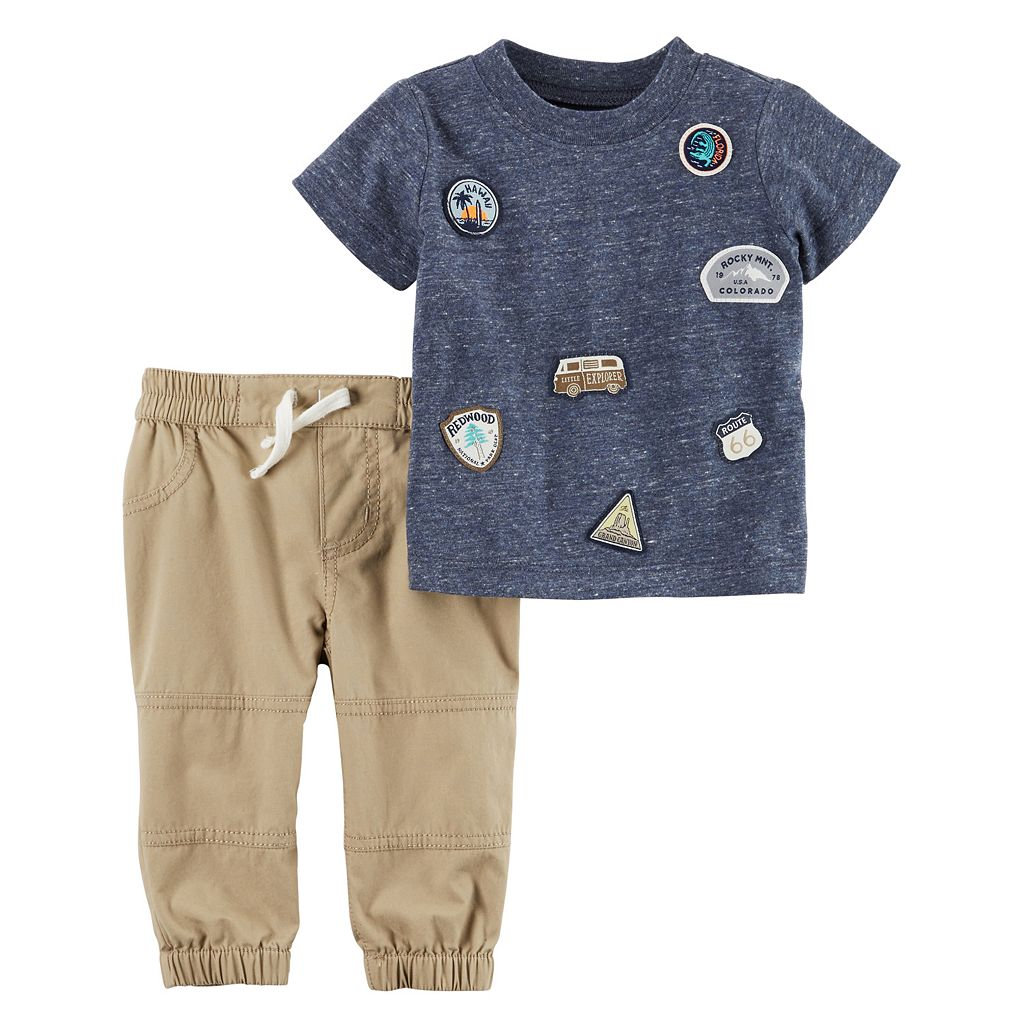 Baby Boy Carter's Road Trip Tee & Pants Set