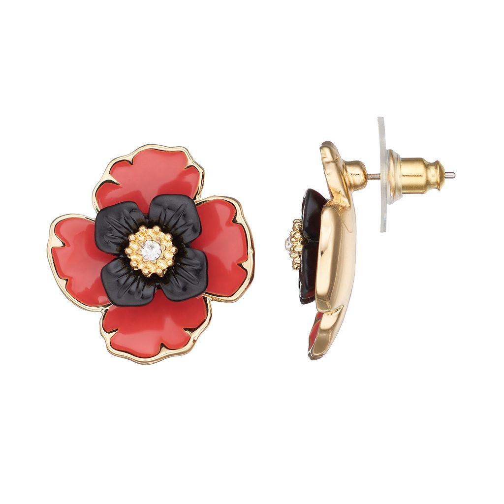 Dana Buchman Poppy Drop Earrings