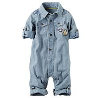 Baby Boy Carter's Road Trip Patch Chambray Jumpsuit