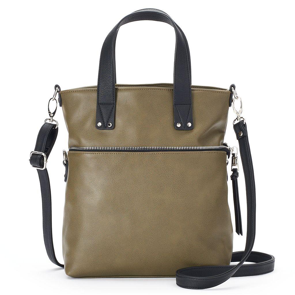 madden NYC Jodi Covertible Satchel Crossbody Bag
