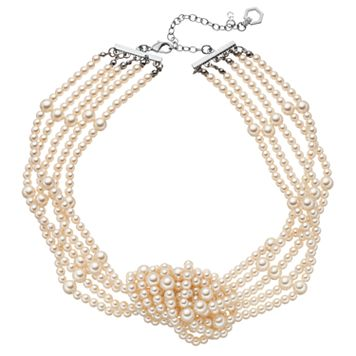 Simply Vera Vera Wang Simulated Pearl Knot Necklace