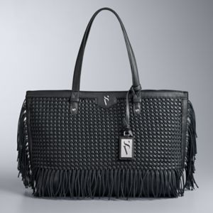 Simply Vera Vera Wang Colorblock Boswell Basketweave Tote
