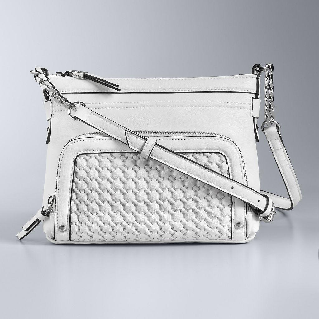 Simply Vera Vera Wang Easton Basket Weave Crossbody Bag
