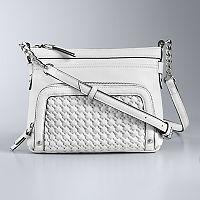 Simply Vera Vera Wang Easton Basket Weave Crossbody Bag