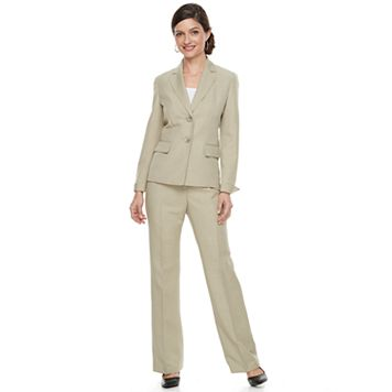 Women's Le Suit Melange Crepe 2-Button Pant Suit