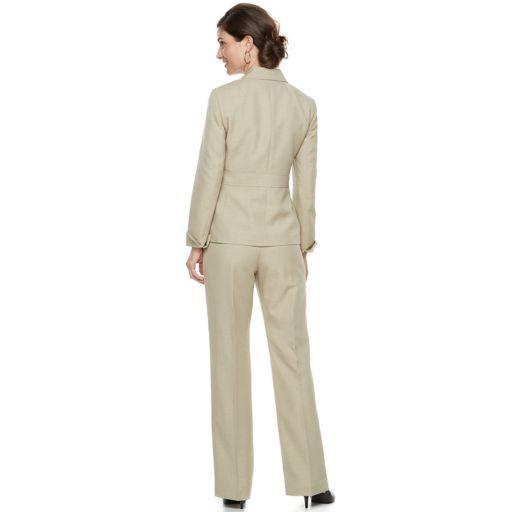 Women's Le Suit Melange Crepe 2-Button Pant Suit