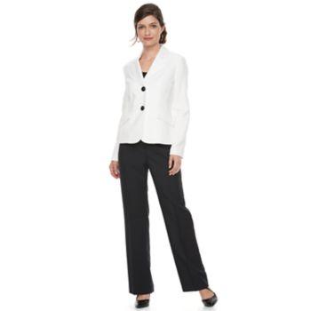 Women's Le Suit Glazed Melange 2-Button Pant Suit