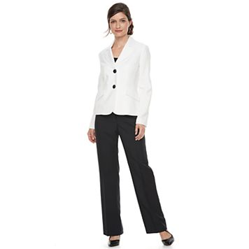 Women's Le Suit Glazed Melange 2-Button Pant Suit