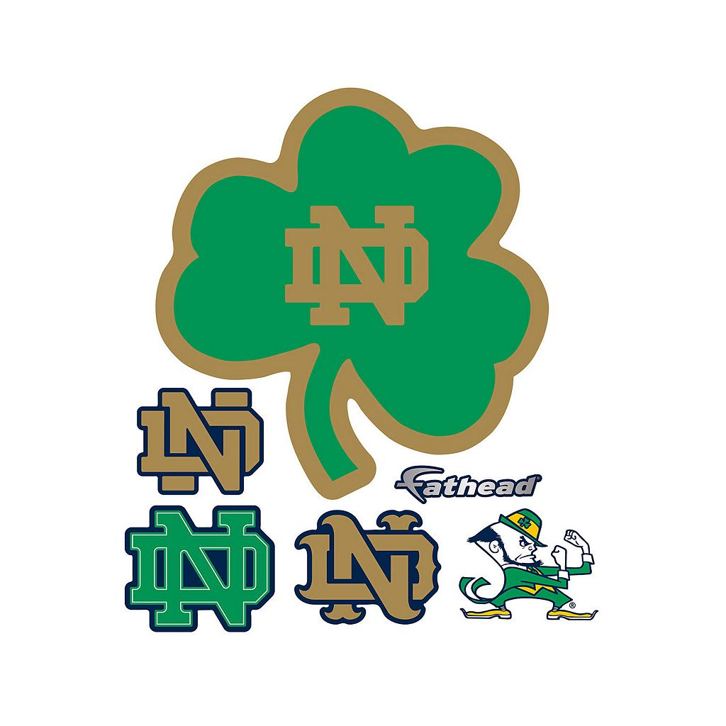 Notre Dame Fighting Irish Green Logo Wall Decal by Fathead