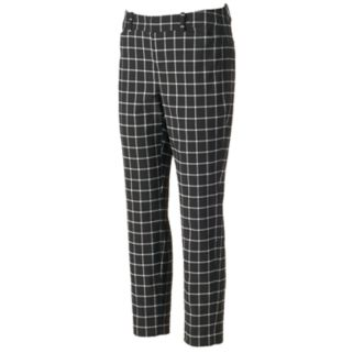 Women's ELLE™ Grid Skinny Ankle Pants