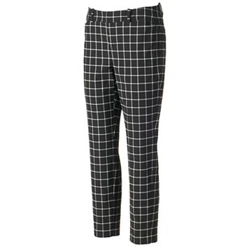 Women's ELLE™ Grid Skinny Ankle Pants