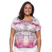 Plus Size World Unity Print Sublimation Tee