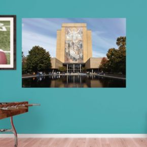 Notre Dame Fighting Irish Hesburgh Library Mural Wall Decal by Fathead