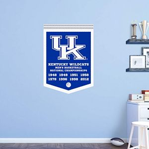Kentucky Wildcats National Champs Banner Wall Decal by Fathead