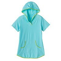 Girls 7-16 Free Country Short-Sleeved Swim Cover-Up