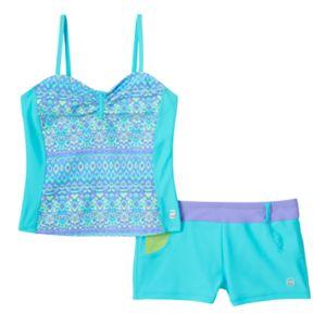 Girls 7-16 Free Country Bandeaux Tankini & Shorts Swimsuit Set
