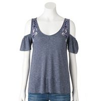 Women's SONOMA Goods for Life™ Cold-Shoulder Tee