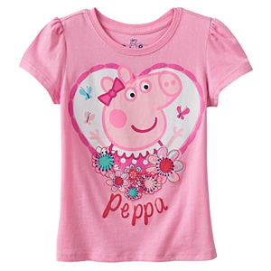 Girl 4-6x Peppa Pig Heart Graphic Tee