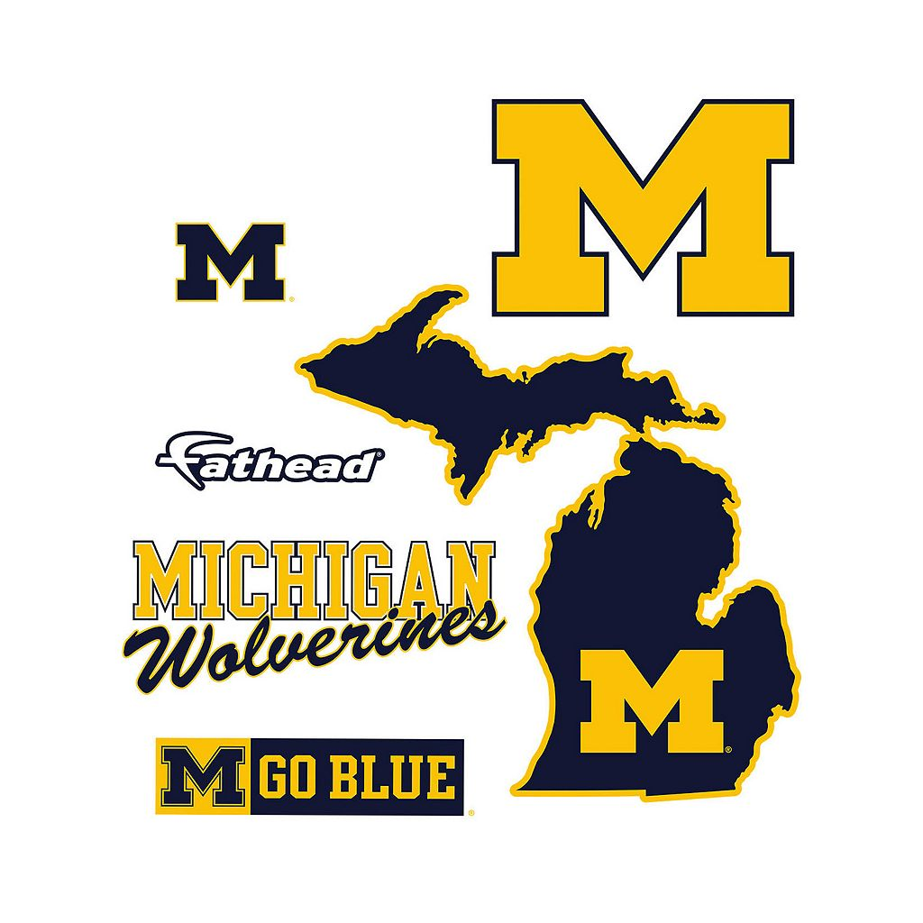 Michigan Wolverines Logo Wall Decal by Fathead