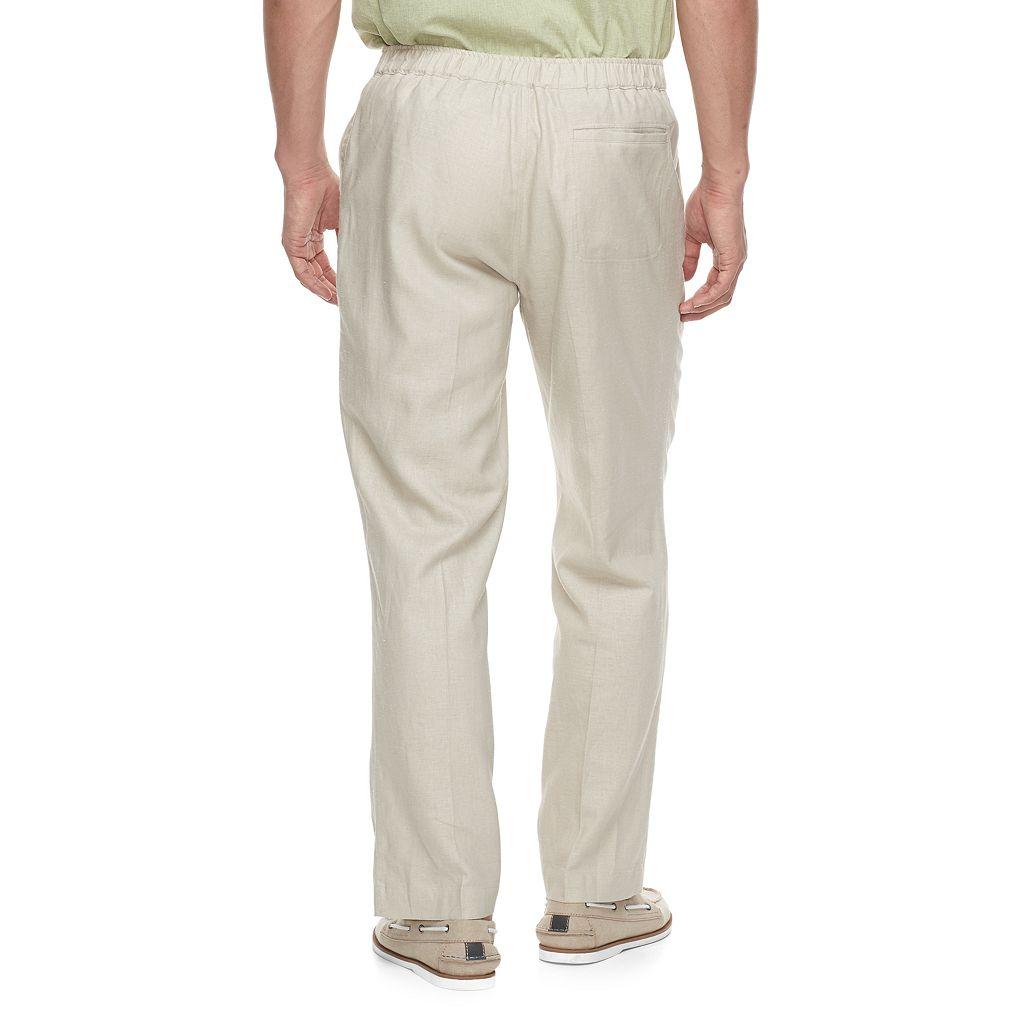 Men's Havanera Classic-Fit Linen-Blend 30-inch Inseam Drawstring Pants