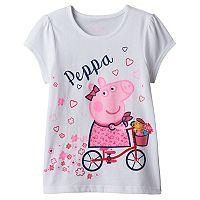 Girl 4-6x Peppa Pig Bicycle Graphic Tee