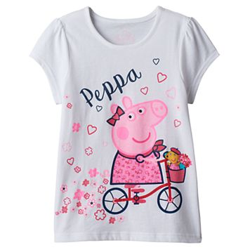 Girl 4-6x Peppa Pig Bicycle Graphic Tee