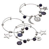Celestial Charm Bangle Bracelet Set