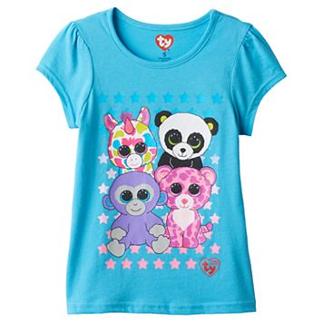 Girls 4-6x TY Beanie Boos Grapes, Wishful, Glamour & Bamboo Graphic Tee
