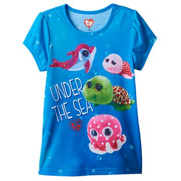 Girls 4-6x TY Beanie Boo Ollie, Shellby, Sandy & Sparkles Graphic Tee
