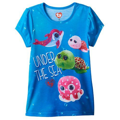 Girls 4-6x TY Beanie Boo Ollie, Shellby, Sandy & Sparkles Graphic Tee