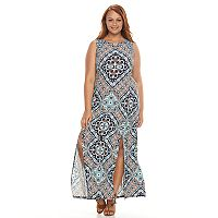 Plus Size Suite 7 Medallion Maxi Dress