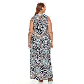 Plus Size Suite 7 Medallion Maxi Dress