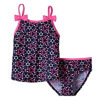 Girls 4-6x OshKosh B'gosh® Bow Strap Tankini Top & Bottoms Swimsuit Set