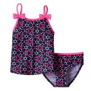 Girls 4-6x OshKosh B'gosh® Bow Strap Tankini Top & Bottoms Swimsuit Set