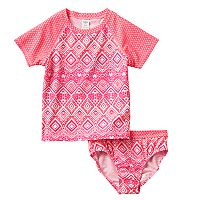 Girls 4-6x OshKosh B'gosh® Geometric Rashguard Swimsuit Set